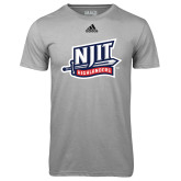 Adidas Climalite Sport Grey Ultimate Performance Tee-NJIT Mark