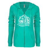 ENZA Ladies Seaglass Light Weight Fleece Full Zip Hoodie-Official Logo