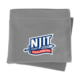 Grey Sweatshirt Blanket-NJIT Mark