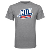 Grey T Shirt-NJIT Mark
