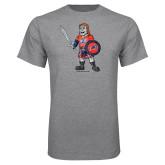 Grey T Shirt-Mascot Distressed