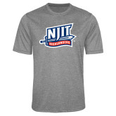 Performance Grey Heather Contender Tee-NJIT Mark