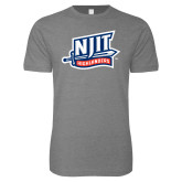 Next Level SoftStyle Heather Grey T Shirt-NJIT Mark