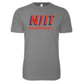 Next Level SoftStyle Heather Grey T Shirt-Stacked Wordmark