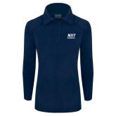 Columbia Ladies Half Zip Navy Fleece Jacket-Stacked Wordmark