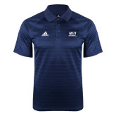 Adidas Climalite Navy Jaquard Select Polo-Stacked Wordmark