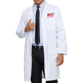 Mens White Lab Coat-Stacked Wordmark