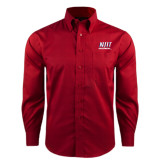Red House Red Long Sleeve Shirt-Stacked Wordmark