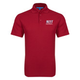 Red Dry Zone Grid Polo-Stacked Wordmark