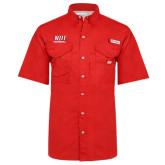Columbia Bonehead Red Short Sleeve Shirt-Stacked Wordmark