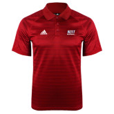 Adidas Climalite Red Jaquard Select Polo-Stacked Wordmark