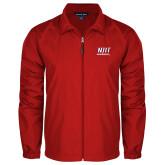 Full Zip Red Wind Jacket-Stacked Wordmark
