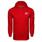 Under Armour Red Performance Sweats Team Hoodie-Stacked Wordmark