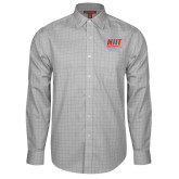 Red House Grey Plaid Long Sleeve Shirt-Stacked Wordmark