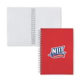 Clear 7 x 10 Spiral Journal Notebook-NJIT Mark