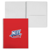 College Spiral Notebook w/Clear Coil-NJIT Mark