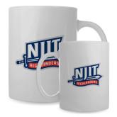 Full Color White Mug 15oz-NJIT Mark