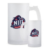 Full Color Decorative Frosted Glass Mug 16oz-Official Logo