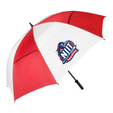 62 Inch Red/White Vented Umbrella-Official Logo