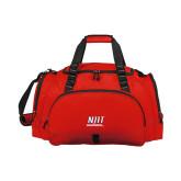 Challenger Team Red Sport Bag-Stacked Wordmark