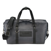 Cutter & Buck Pacific Series Black Weekender Duffel-Kidney Care Debossed