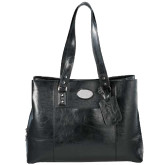 Kenneth Cole Classy Black Ladies Computer Tote-Kidney Care Debossed