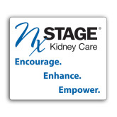 Medium Decal-Kidney Care Encourage Enhance Empower Stacked, 8 inches tall