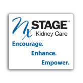 Small Decal-Kidney Care Encourage Enhance Empower Stacked, 6 inches tall