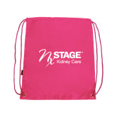 Pink Drawstring Backpack-Kidney Care