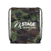 Camo Drawstring Backpack-Kidney Care