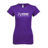 Next Level Ladies SoftStyle Junior Fitted Purple Tee-Kidney Care