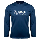 Syntrel Performance Navy Longsleeve Shirt-Kidney Care