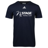 Adidas Climalite Navy Ultimate Performance Tee-Kidney Care