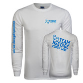 White Long Sleeve T Shirt-Kidney Care