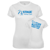 Ladies Syntrel Performance White Tee-Kidney Care