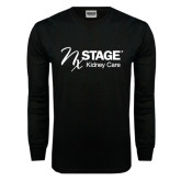 Black Long Sleeve TShirt-Kidney Care