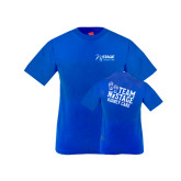 Youth Royal T Shirt-Kidney Care
