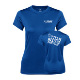 Ladies Syntrel Performance Royal Tee-Kidney Care