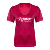Ladies Pink Raspberry Camohex Performance Tee-Kidney Care