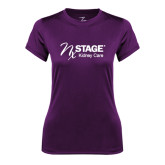 Ladies Syntrel Performance Purple Tee-Kidney Care