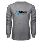 Grey Long Sleeve T Shirt-Kidney Care