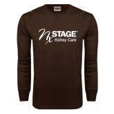 Brown Long Sleeve TShirt-Kidney Care