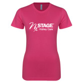 Ladies SoftStyle Junior Fitted Fuchsia Tee-Kidney Care