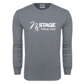 Charcoal Long Sleeve T Shirt-Kidney Care
