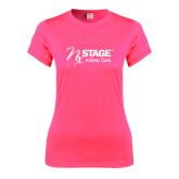 Ladies Performance Hot Pink Tee-Kidney Care