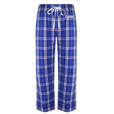 Royal/White Flannel Pajama Pant-Kidney Care