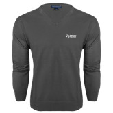 Classic Mens V Neck Charcoal Heather Sweater-Kidney Care