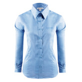 Ladies Red House Light Blue Long Sleeve Shirt-Kidney Care