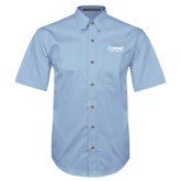 Light Blue Twill Button Down Short Sleeve-Kidney Care