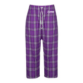 Ladies Purple/White Flannel Pajama Pant-Kidney Care